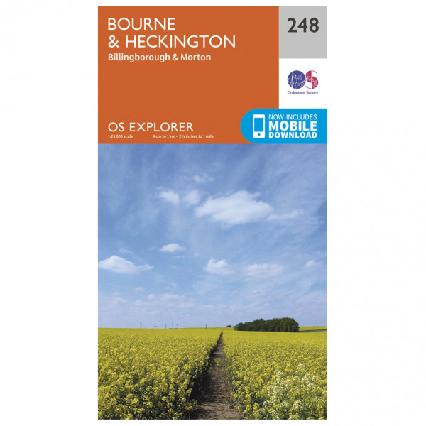 Ordnance Survey - Bourne / Heckington - Hiking map