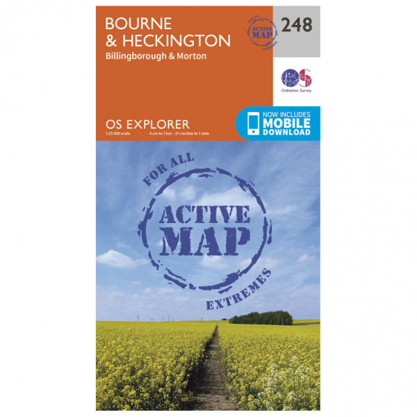 Ordnance Survey - Bourne / Heckington Waterproof - Vandringskartor