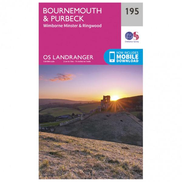 Ordnance Survey - Bournemouth / Purbeck L195 - Wanderkarte
