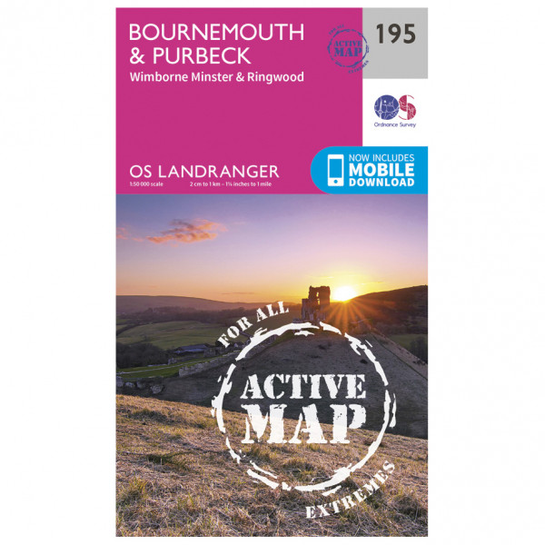 Ordnance Survey - Bournemouth / Purbeck Waterproof - Hiking map