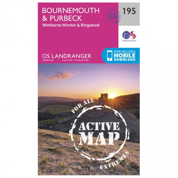 Ordnance Survey - Bournemouth / Purbeck Waterproof - Vandringskartor