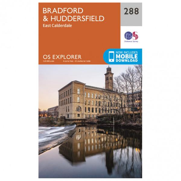 Ordnance Survey - Bradford / Huddersfield - Mapa de senderos