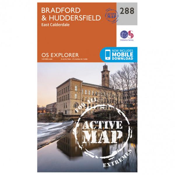 Ordnance Survey - Bradford / Huddersfield Waterproof - Hiking map