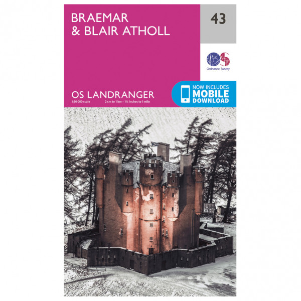 Ordnance Survey - Braemar / Blair Athol L043 - Wanderkarte