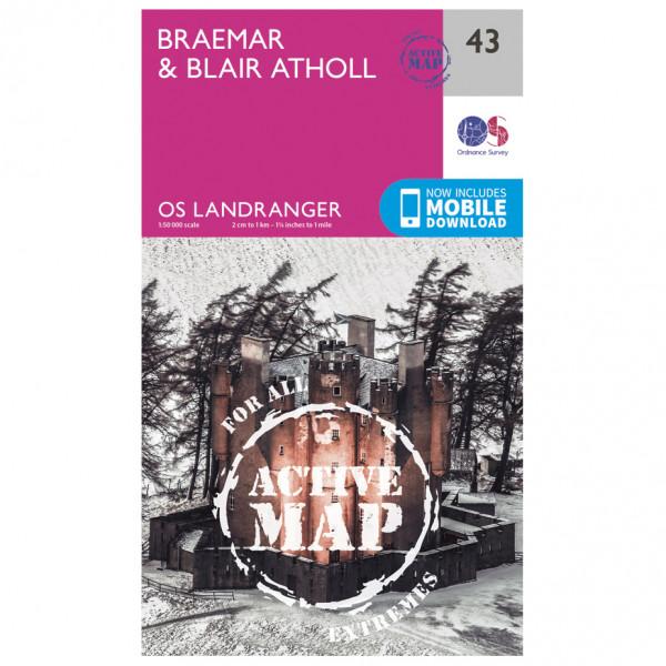 Ordnance Survey - Braemar / Blair Athol Waterproof - Hiking map