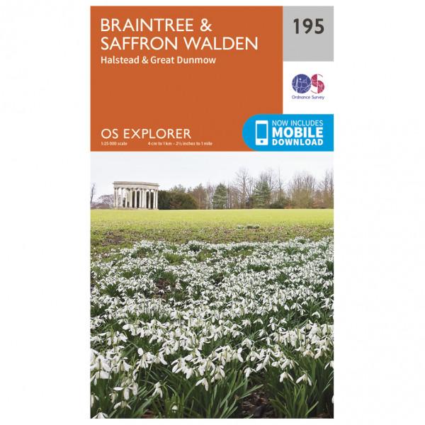 Ordnance Survey - Braintree / Saffron Walden - Carte de randonnée