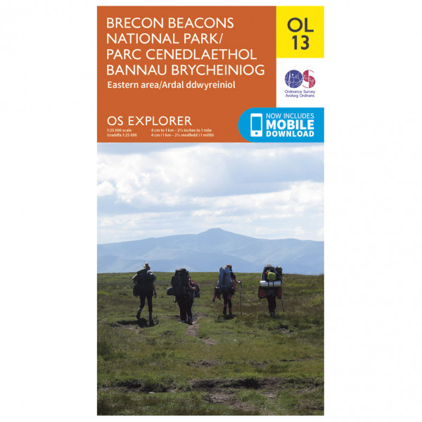 Ordnance Survey - Brecon Beacons Nat. Parc Eastern Area Outdoor - Vaelluskartat