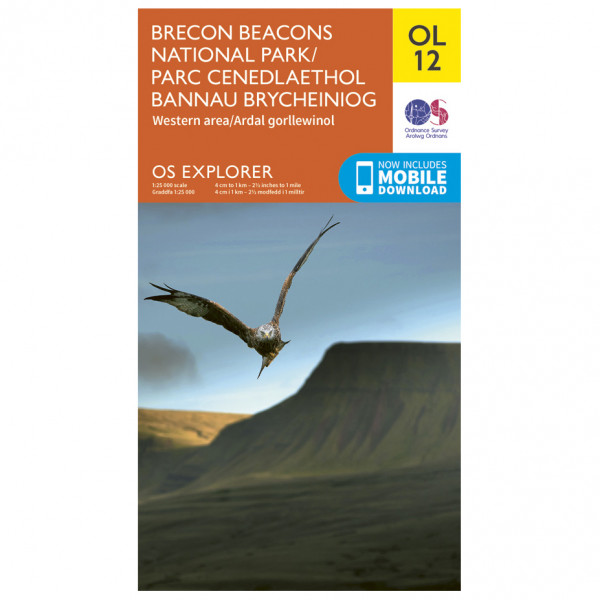 Ordnance Survey - Brecon Beacons Nat. Parc West.& Central Areas Outdoor - Vandrekort