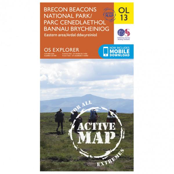 Ordnance Survey - Brecon Beacons Np - Eastern Area Waterproof - Vandringskartor