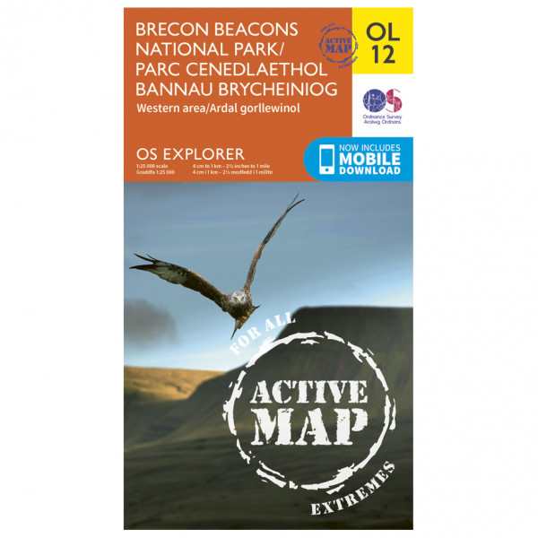 Ordnance Survey - Brecon Beacons Np - West - Central Area Waterproof - Turkart