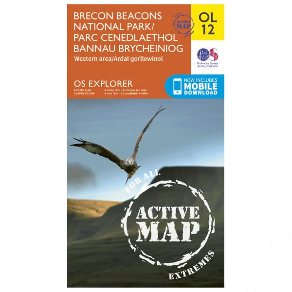 Ordnance Survey - Brecon Beacons Np - West - Central Area Waterproof - Vandringskartor
