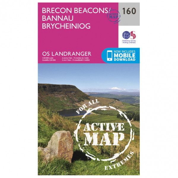 Ordnance Survey - Brecon Beacons Waterproof - Vaelluskartat