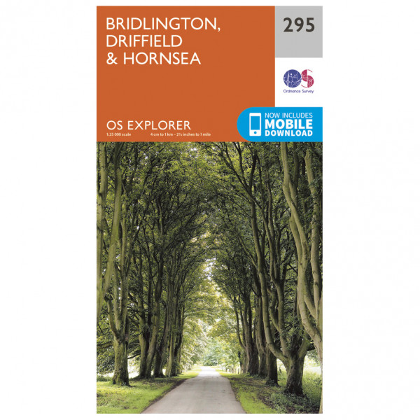 Ordnance Survey - Bridlington / Driffield / Hornsea EXP295 - Wanderkarte
