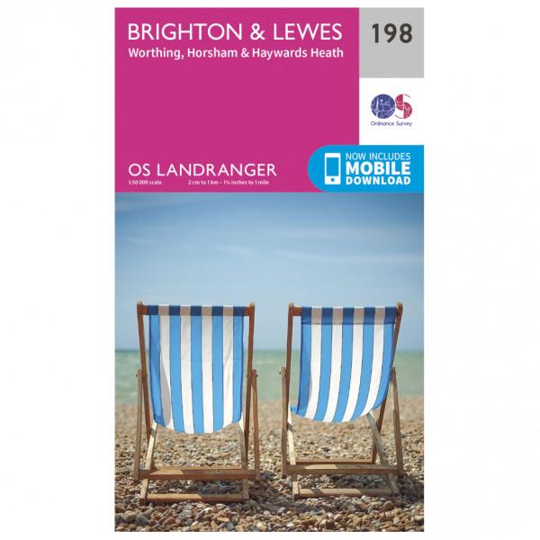 Ordnance Survey - Brighton / Lewes - Wandelkaart