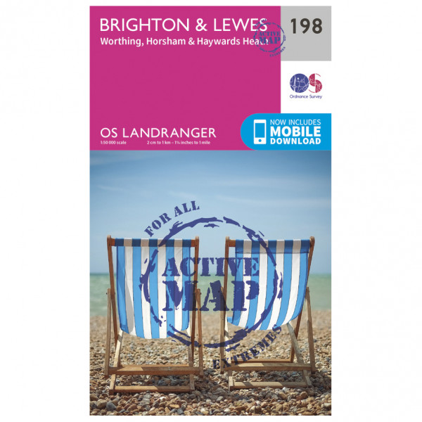 Ordnance Survey - Brighton / Lewes / Haywards Heath Waterproof - Vandringskartor