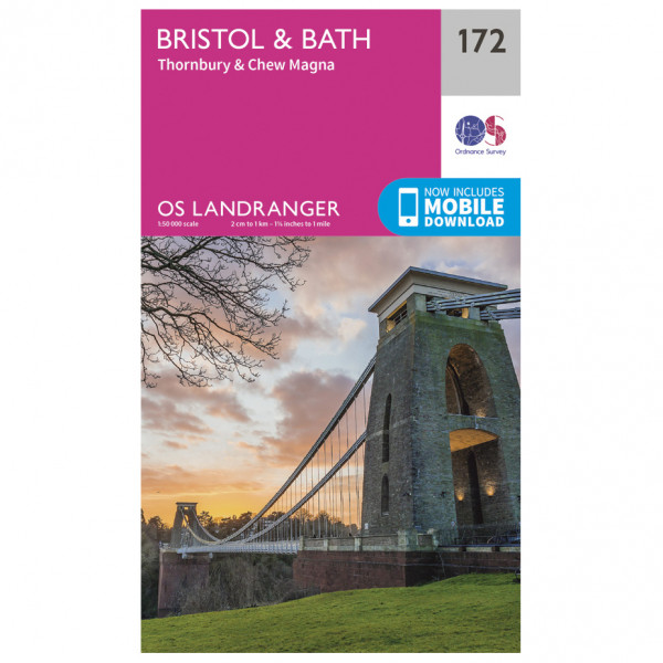 Ordnance Survey - Bristol / Bath - Vandrekort