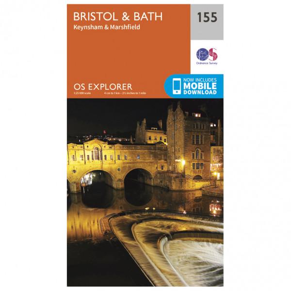 Ordnance Survey - Bristol / Bath Explorer - Wandelkaarten