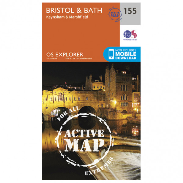 Ordnance Survey - Bristol / Bath Keynsham / Marshfield Waterproof - Mapa de senderos