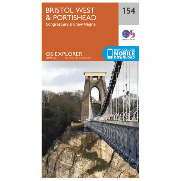 Ordnance Survey - Bristol West / Portishead EXP154 - Wanderkarte