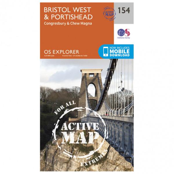 Ordnance Survey - Bristol West / Portishead Waterproof - Hiking map
