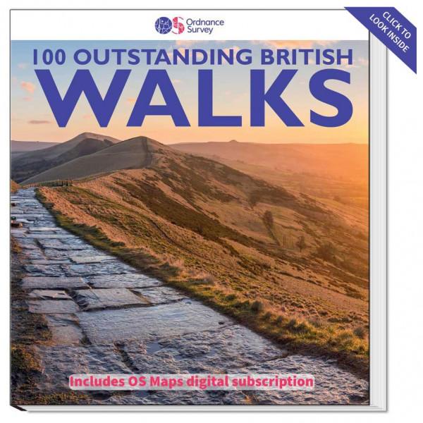 Ordnance Survey - British - 100 Outstanding British Walks - Vandrekort