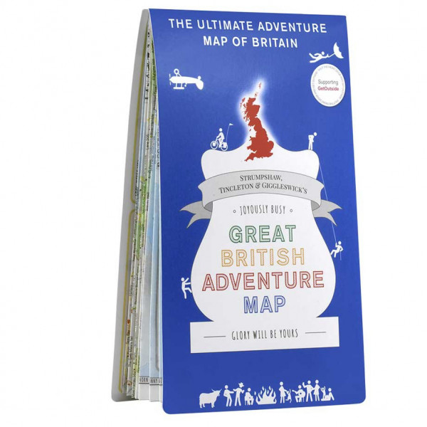 Ordnance Survey - British - Great British Adventure Map - Vaelluskartat