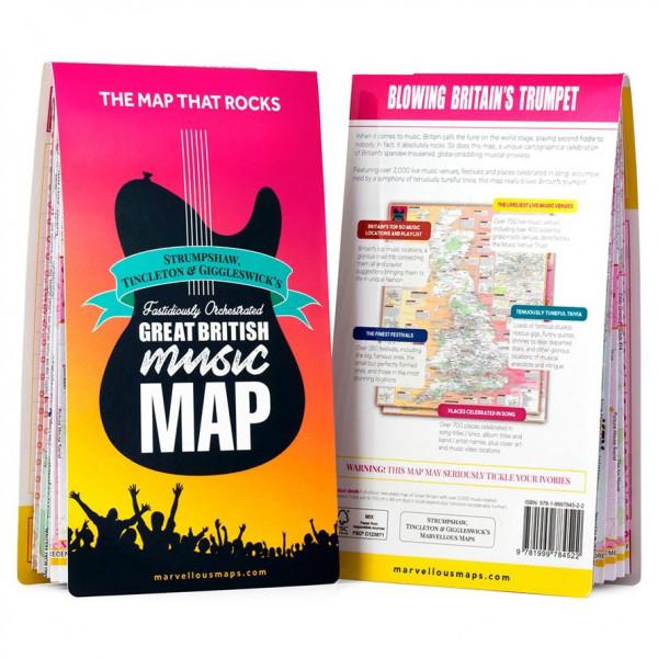 Ordnance Survey - British - Great British Music Map - Wandelkaarten