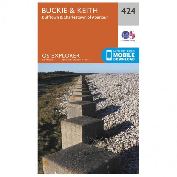 Ordnance Survey - Buckie / Keith - Vandringskartor