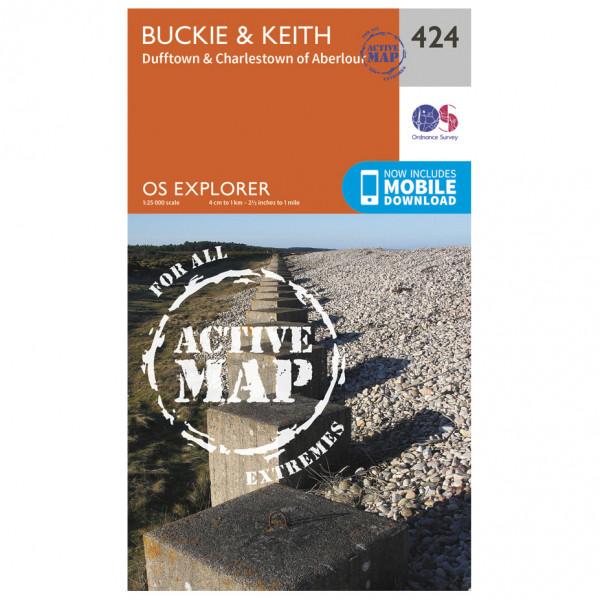 Ordnance Survey - Buckie / Keith Waterproof - Hiking map