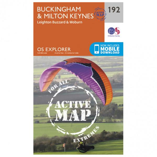 Ordnance Survey - Buckingham / Milton Keynes Waterproof - Vandringskartor
