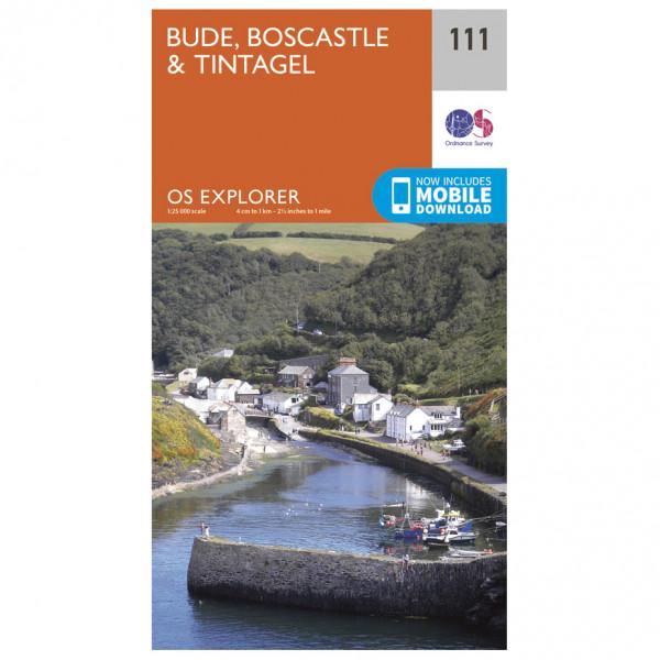 Ordnance Survey - Bude / Boscastle / Tintagel EXP111 - Wanderkarte