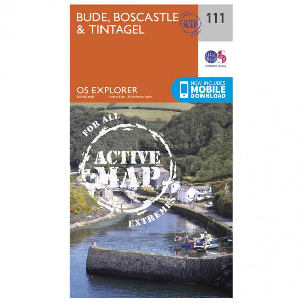 Ordnance Survey - Bude / Boscastle / Tintagel Waterproof - Vaelluskartat