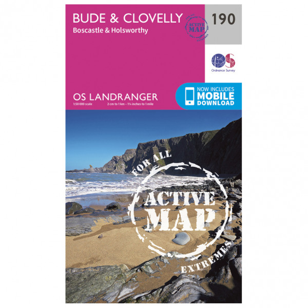 Ordnance Survey - Bude / Clovelly / Boscastle Waterproof - Vandringskartor