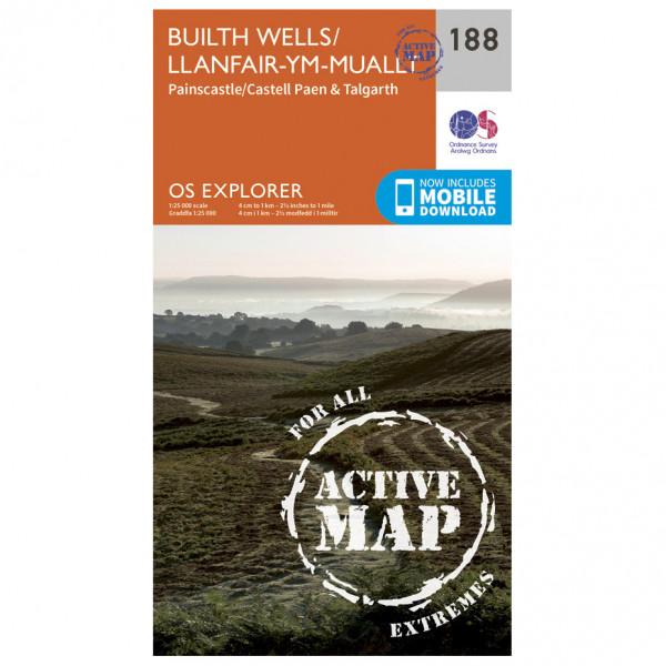 Ordnance Survey - Builth Wells / Llanfair-Ym-Muallt Waterproof - Mapa de senderos