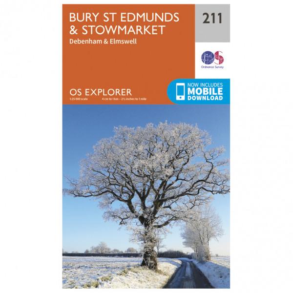 Ordnance Survey - Bury St Edmunds / Stowmarket - Carte de randonnée