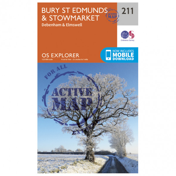 Ordnance Survey - Bury St Edmunds / Stowmarket Waterproof EXPL211 - Wanderkarte