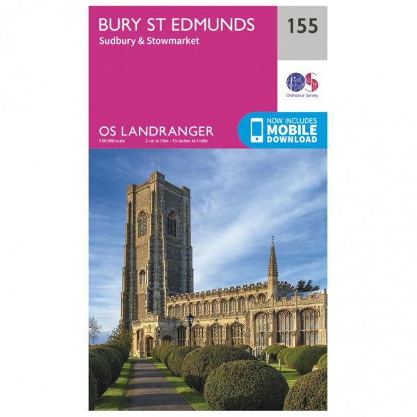 Ordnance Survey - Bury St Edmunds / Sudbury / Stowmarket - Vandringskartor