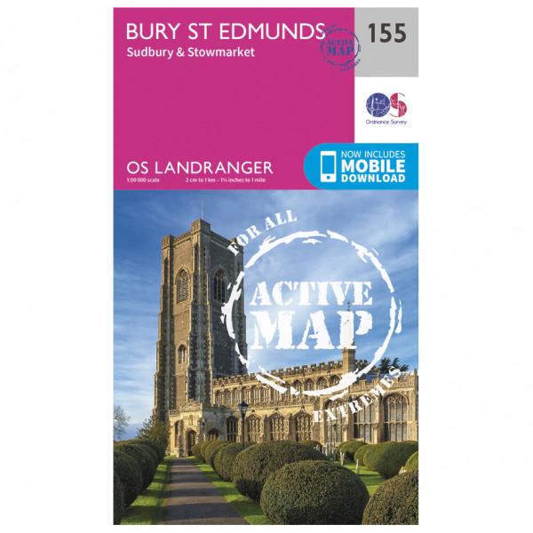 Ordnance Survey - Bury St Edmunds / Sudbury / Stowmarket Waterproof - Vandringskartor