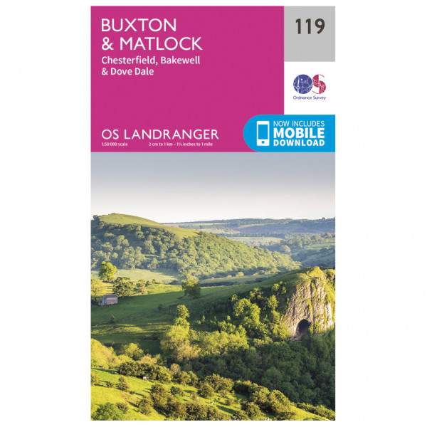 Ordnance Survey - Buxton / Matlock - Vaelluskartat