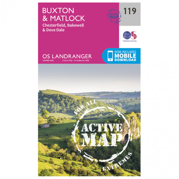 Ordnance Survey - Buxton / Matlock / Chesterfield Waterproof - Wandelkaarten