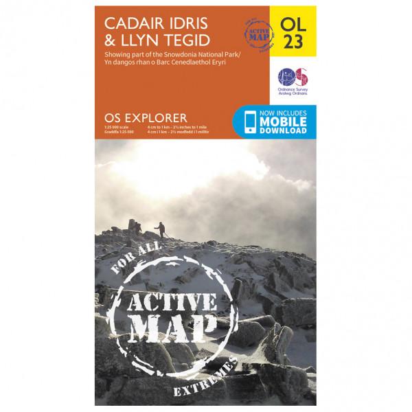 Ordnance Survey - Cadair Idris / Bala Lake / Llyn Tegid Waterproof - Hiking map