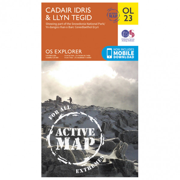 Ordnance Survey - Cadair Idris / Bala Lake / Llyn Tegid Waterproof - Vaelluskartat