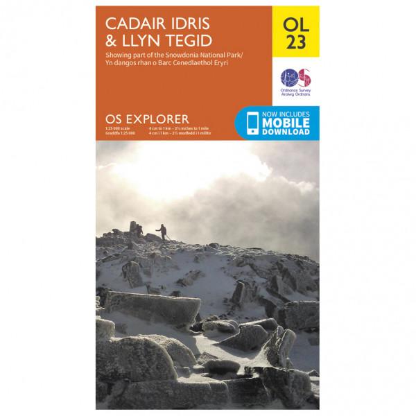 Ordnance Survey - Cadair Idris / Llyn Tegid Outdoor - Vandringskartor