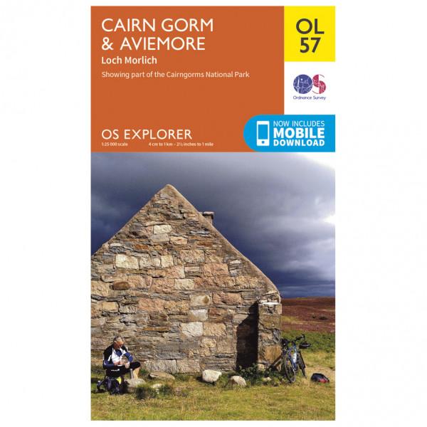 Ordnance Survey - Cairn Gorm / Aviemore / Loch Morlich Outdoor - Hiking map