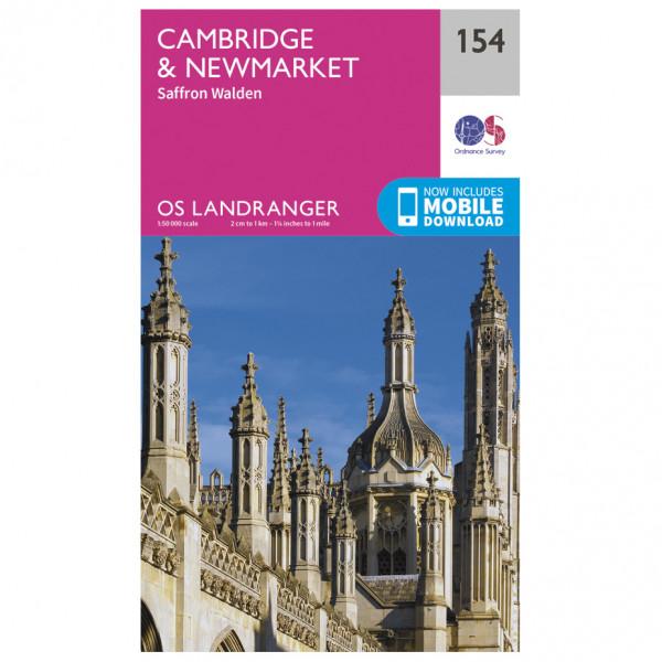 Ordnance Survey - Cambridge / Newmarket / Saffron Walden L154 - Wanderkarte