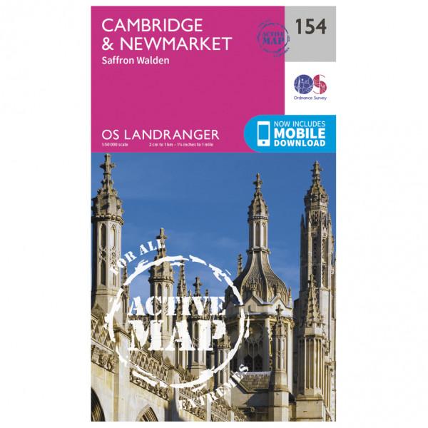 Ordnance Survey - Cambridge / Newmarket / Saffron Walden Waterproof - Wandelkaarten