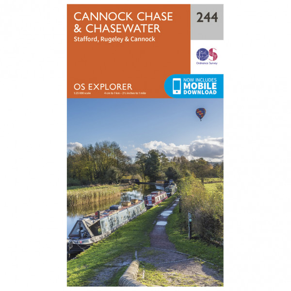 Ordnance Survey - Cannock Chase / Chasewater - Hiking map