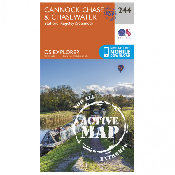 Ordnance Survey - Cannock Chase / Chasewater Waterproof - Vandrekort
