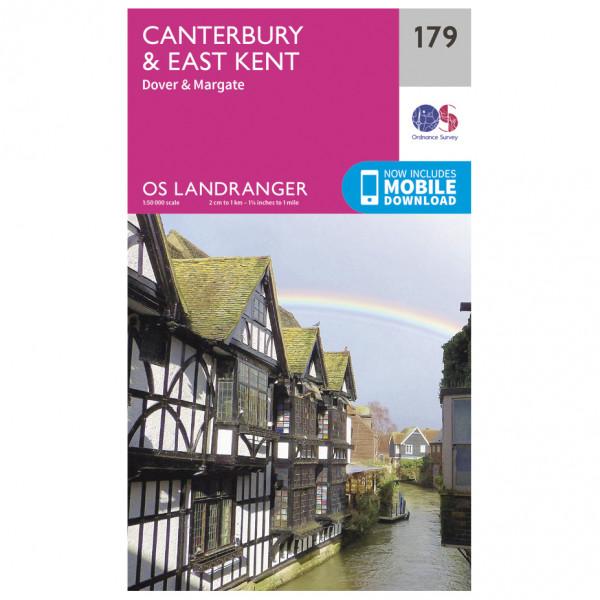 Ordnance Survey - Canterbury / East Kent - Wandelkaarten