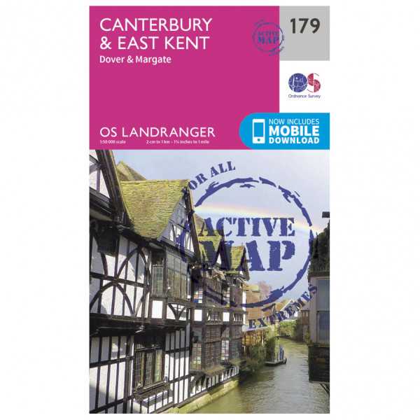 Ordnance Survey - Canterbury / East Kent / Dover Waterproof - Hiking map